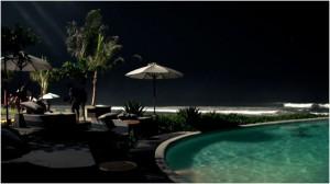 Mick Fanning & Koko Mitsua night surfing Keramas Bali